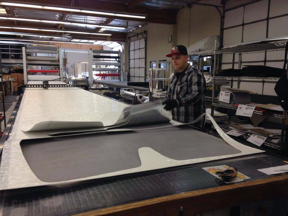 Our precision cutting equipment and expert sewing team make the highest quality car window shades on the market.