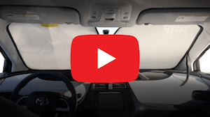 Click to play video overview about our HeatShield car window covers.
