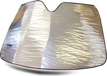 Heatshield Windshield Sun Shade for 1966-1973 Mercedes 300SEL 6.3 (exterior view)