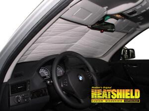 Heatshield Windshield Sun Shade for 2007 BMW X3 (interior view)