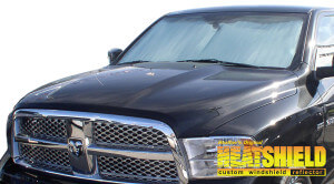 Windshield Sun Shade for 2010-2018 Ram 1500 (exterior view) 5e3f4a79578